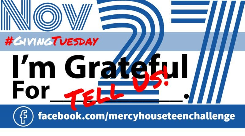 Giving Tuesday Ad Tell Us What You Are Grateful For