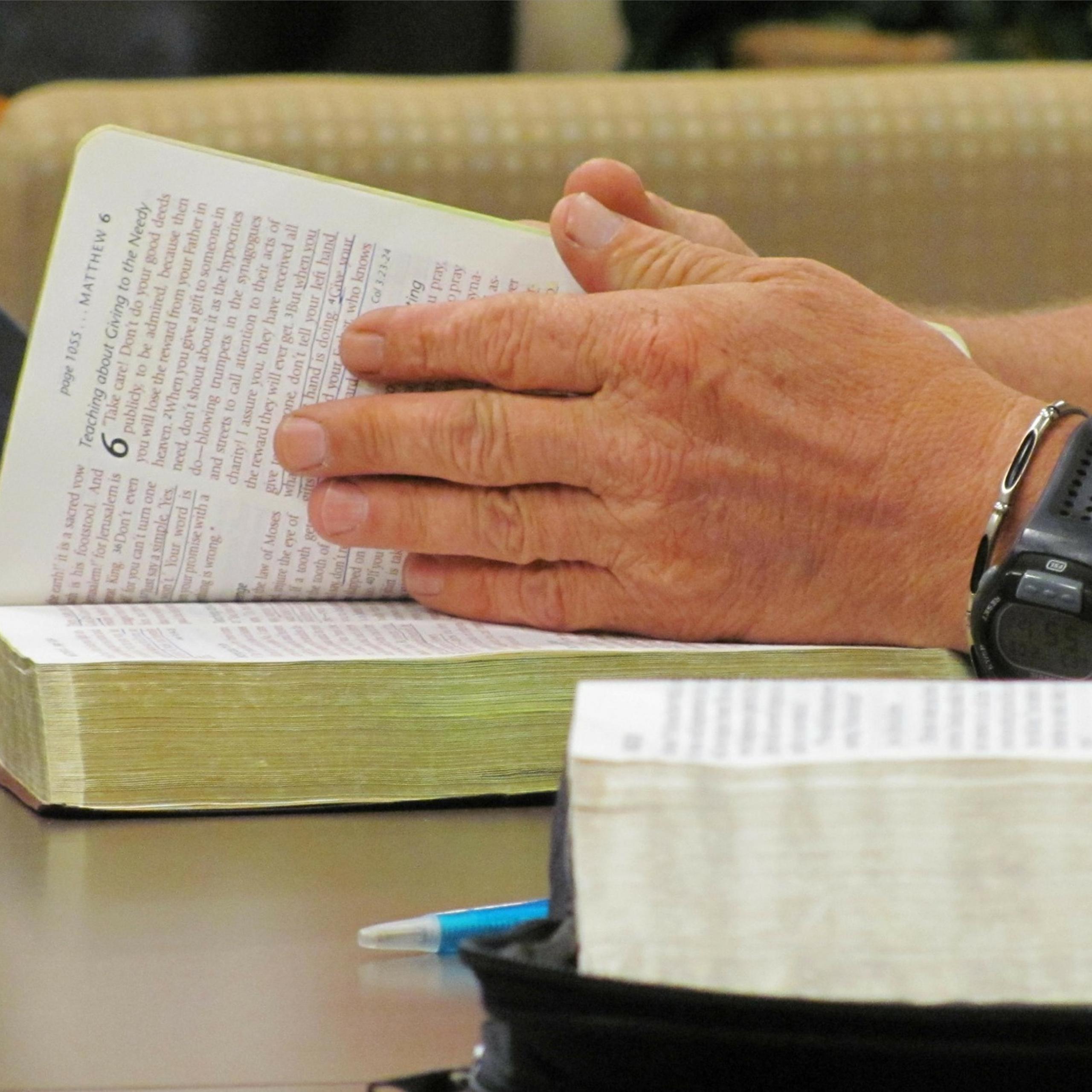 Man Studying Bible