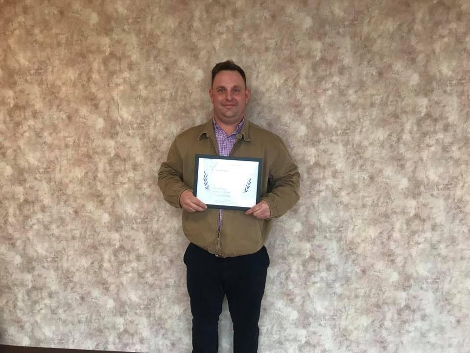 Jake Thomas Graduation Certificate