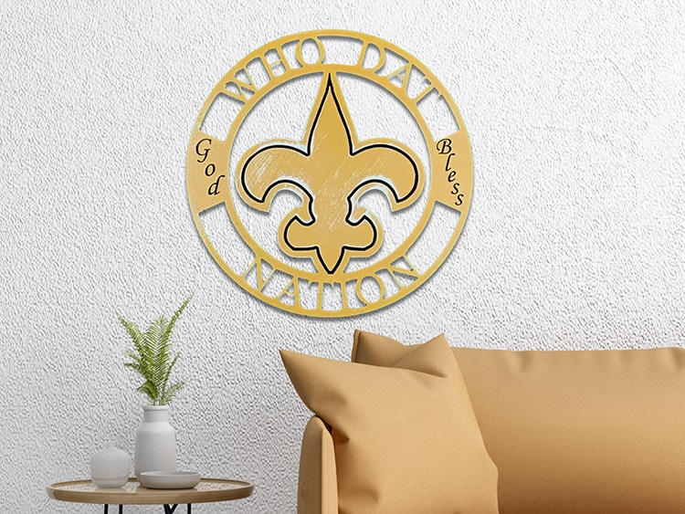 New Orleans Saints-God Bless Medallion